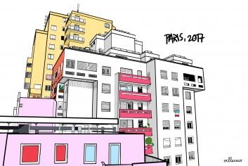 Paris_building_illustration - Villaraco