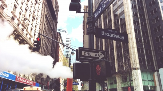 New York Photography - Brodway street steam