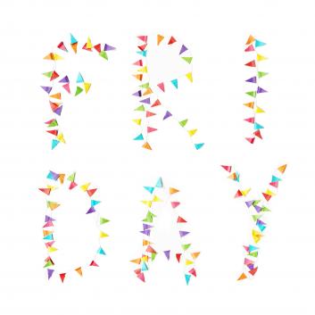 Friday party lettering - villaraco