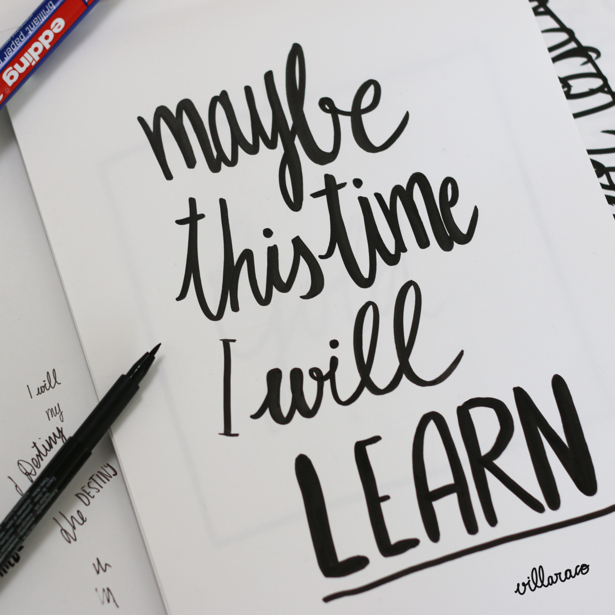 Lettering, Hand Lettering and Calligraphy   Villaraco