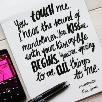 lettering example - nina simone lyrics