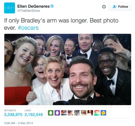 Ellen Degeneres selfie oscars