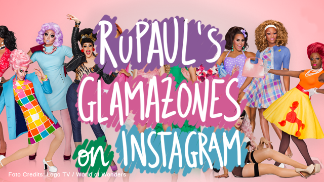 Rupaul's Drag Race Glamazones on Instagram
