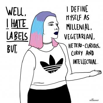 I hate labels_illustration villaraco