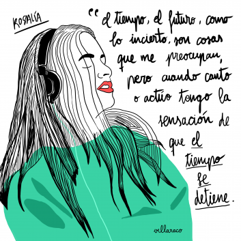 Rosalia cantaora flamenco - illustration - Villaraco