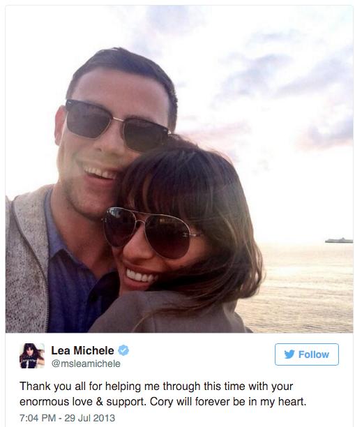 Lea Michelle tweet boyfriend