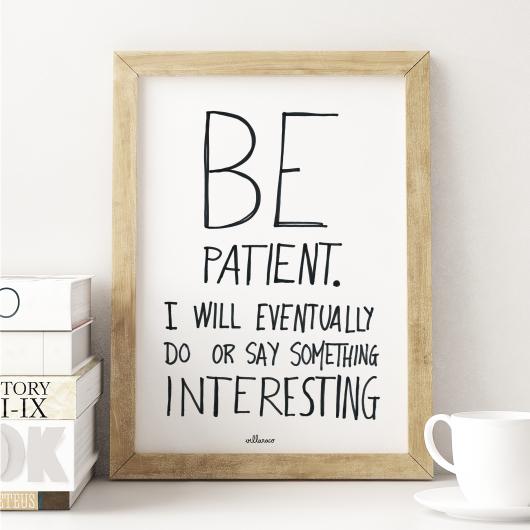 villaraco| be patient frame