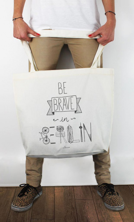 villaraco | Wooop.fr tote-bag be-brave-in-berlin